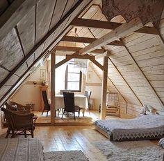 Remodeled bohemian attic