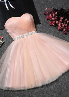 Lovely Sweetheart Prom Dress | 2018 Tulle Lace-Up Short Homecoming Dress From 27dress.com