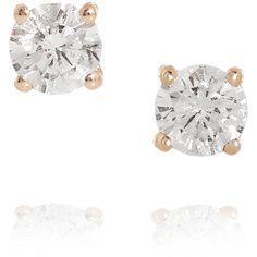Anita Ko 18-karat rose gold diamond earrings found on Polyvore