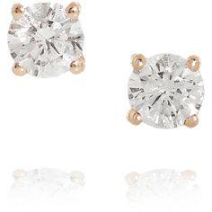 Anita Ko 18-karat rose gold diamond earrings ($1,275) ❤ liked on Polyvore featuring jewelry, earrings, accessories, brincos, joias, gold, rose gold diamond earrings, 18k diamond earrings, rose gold jewelry and rose gold stud earrings