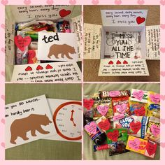"""""""I miss you all the time"""" box was filled with puns!  Deployment Care Package"""