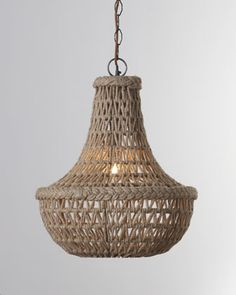 "You lost me at ""Macrame Jute"" Chandelier by Jamie Young at Horchow....why is everything i love not in Australia!!!!"