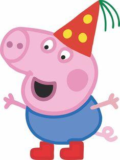 Cumple George Pig, Peppa E George, George Pig Party, Peppa Pig Birthday Decorations, Peppa Pig Birthday Cake, Peppa Pig Images, Peppa Pig Wallpaper, Cumple Peppa Pig, Peppa Pig Family