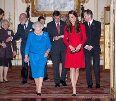 The Queen and The Duchess of Cambridge attend the RADA reception.
