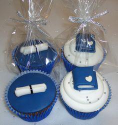 Cupcakes para lembrancinha de Formatura