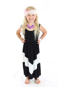 Chevron maxi dress for toddlers