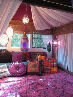 Coloured Pillows Room