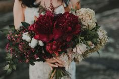 Deep Lush Natural Garden Wild Bouquet | Lake Oconee Destination Wedding | Colonial House of Flowers