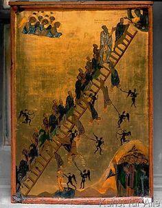 6. Jahrhundert - Himmelsleiter / byzant.Ikone                                                                                                                                                                                 Mehr