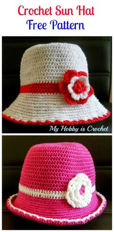 My Hobby Is Crochet: Toddler Cotton Sun Hat - Free Crochet Pattern with Tutorial
