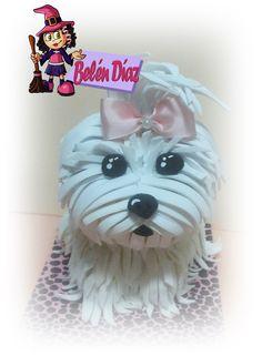 Dog tutorial part 2 Foam Crafts, Diy Crafts, Doll Toys, Dolls, Foam Sheets, Fondant Tutorial, Lhasa Apso, Clay Miniatures, Stuffed Animal Patterns