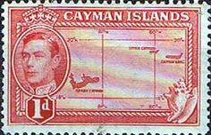 Cayman Islands 1938 SG 117 Map Fine Mint SG 117 Scott 100 Other Cayman Island Stamps HERE