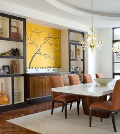 Abstract Wall Art Painting in Modern Living Room - Wallpaper Mural ...