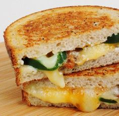 Variety of Grilled Cheese sandwiches including Jalapeno Popper Grilled Cheese