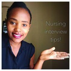 Interview tips for nursing students and new grad nurses // nursing