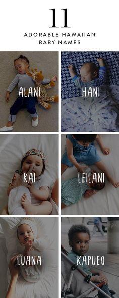 Here are 11 adorable Hawaiian baby names. - Boy Girl Names - Here are 11 adorable Hawaiian baby names. Unique Girl Names, Boy Girl Names, Unisex Baby Names, Cute Baby Names, Adorable Girl Names, Meaningful Baby Names, Different Baby Names, Pretty Baby Girl Names, Baby Girl Names Uncommon