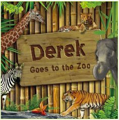 This Personalized Zoo Book let's your child truly be a part of the story!
