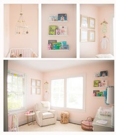 Jordan Burch Photography: Home style newborn shoot. Adorable pink neutral nursery.