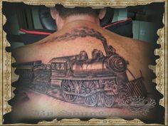train tattoo designs | Back Tattoos | Bali Dreamz Tattoo - Songcat is the Best Tattooist in ...