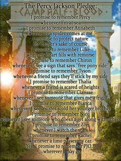 The Percy Jackson oath