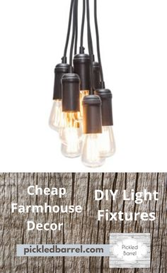 Make your own farmhouse light fixtures that look like you spent big money on them. Once you know a few tricks and have the plans, you can do DIY farmhouse decor lighting and do it on a budget that will shock everyone--maybe even yourself. Diy Light Fixtures, Farmhouse Light Fixtures, Industrial Light Fixtures, Farmhouse Lighting, Farmhouse Decor, White Farmhouse, Diy Home Decor Projects, Decor Ideas, Diy Rustic Decor