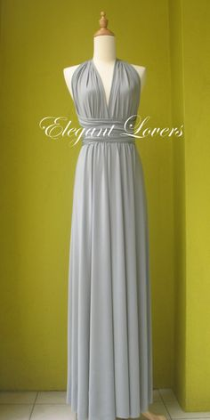 Grey Wedding Dress Bridesmaid Dress Infinity by Elegantlovers, $79.90