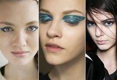 Fall/ Winter 2014-2015 Makeup Trends: Blue Eye Makeup  #beautytrends #makeuptrends #makeup