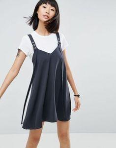 Платье-комбинация мини с пряжкой ASOS