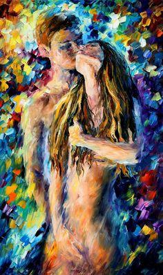 Leonor Afremov - oriundo da Russia e nascido na mesma localidade que Marc Chagal - pinta óleos pejados de cor, em largas pincelad...