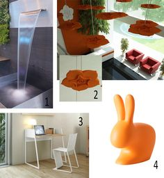 Isabel Picks for Spring 2017 Isabel's Picks for Spring 2017 IT'S A COLD START Let's make a splash --- Water wall, water blade, fountain, Rockworld water features, Soundtect Celest, acoustic panels, Working Desk - POP UP HOME, Rabbit Chair Baby orange, Steffano Giovannoni