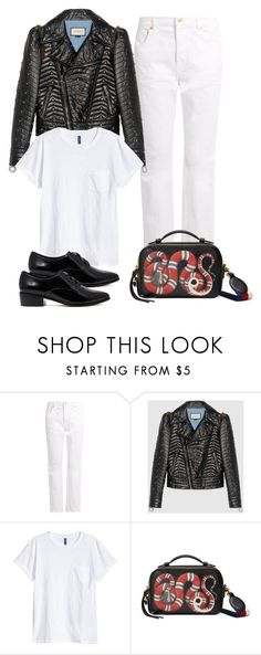 """""""Untitled #2976"""" by hankristina ❤ liked on Polyvore featuring Balenciaga, Gucci, H&M and Dune"""