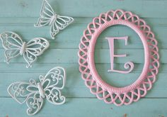 Girls Room decor  Wall decor  Cottage chic  by SavannahsCottage, $22.00