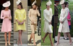 Here is a quick refresher on Kate's style at previous Garden Parties: the Duchess repeated an Emilia Wickstead dress for her first Garden Party in May 2012, accessorizing with a new Jane Corbett hat; Kate was in a sunny yellow Emilia Wickstead design for her second Garden Party in May of 2013; we saw the return of the very popular champagne lace dress by Alexander McQueen for a June 2014 party; in May of last year, Kate was in the Alexander McQueen design she first wore for Prince George's…