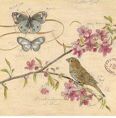 Vintage Bird ~ LAMINAS... Y TRABAJOS CON FLORES (pág. 178) | Aprender manualidades es facilisimo.com