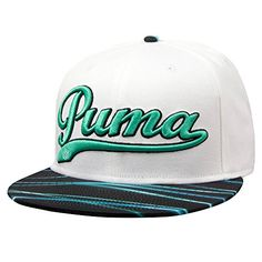 52eea939c7e NEW Puma Script Dynamic Light Bill White Pool Green Adjustable Youth Golf  Hat