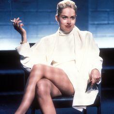 Sharon Stone dans #Basic Instinct - Thriller érotique franco-américain réalisé par Paul Verhoeven, sorti en 1992.