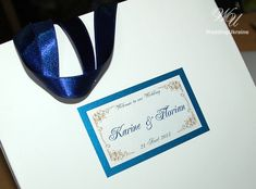 Wedding Welcome Bags  with satin ribbon and tag  by WeddingUkraine