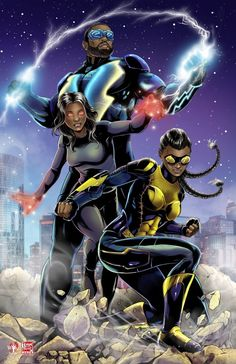 Looking for some mindblowing posters from your favorite superhero T.V series Black Lightning? Check out our best collection of Black Lightning poster. Black Anime Characters, Comic Book Characters, Comic Character, Comic Books Art, Comic Art, Black Girl Art, Black Women Art, Black Lightning Static Shock, Arte Black