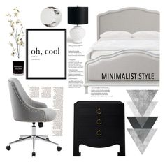 """""""Minimalist Makeover"""" by indhrios ❤ liked on Polyvore featuring interior, interiors, interior design, home, home decor, interior decorating, Damselfly Candles, Grandin Road, Bungalow 5 and Fornasetti"""