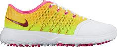 Raised nodes on these womens lunar empress 2 golf shoes by Nike provide stability and a smooth transition through your swing! Nike Womens Golf, Womens Golf Shoes, Nike Golf, Ladies Shoes, Trendy Golf, Spikeless Golf Shoes, Nike Store, Nike Lunar, Rain Wear