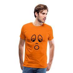 halloween head Männer Premium T-Shirt Head S, Pullover, Sign Design, Shirt Designs, Mens Tops, Orange, Face, Guys, Sweaters