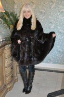 Dramatic Entrance Mink Cape in Brown