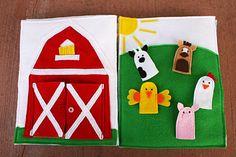 Sunshine, Lollipops, and Rainbows: Farming! - Quiet Book pages 2 & 3