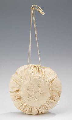 Sweet American reticule from the 1st qtr 19th century. Trapunto stitch. I am making this particular reticule.