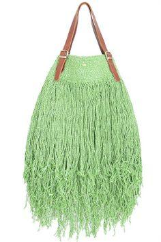 Oska green/white by Elliot Mann. Ibiza Fashion, Berlin Fashion, Boho Accessories, Cotton Bag, Different Styles, Bucket Bag, Purses, Green, Leather