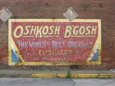 OshKosh B'Gosh ghost sign, Freelandville, IN