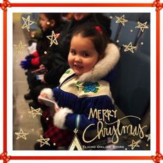 The #Tlicho Online Store would like to wish you #happyholidays #merrychristmas & #happynewyear. #aborable child wearing a #beautiful parka in #Behchoko