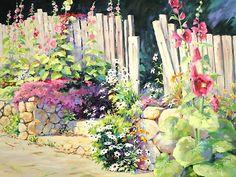 Julie Gilbert Pollard - Hollyhock Garden
