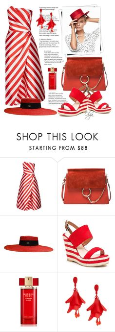 """""""It´s a Red Season"""" by olga1402 ❤ liked on Polyvore featuring Ted Baker, GALA, Chloé, Gucci, French Blu, Estée Lauder, Oscar de la Renta and red"""