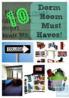 List Of 10 Dorm Room Essentials